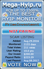 Monitored by mega-hyip.ru