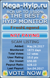 Monitored by mega-hyip.ru