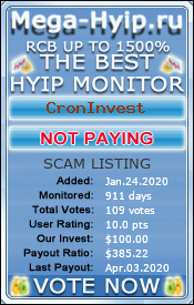Monitored by hyipmaster.org